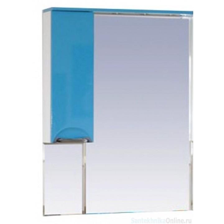 Зеркало-шкаф Misty Жасмин 65 L голубой П-Жас02065-061СвЛ