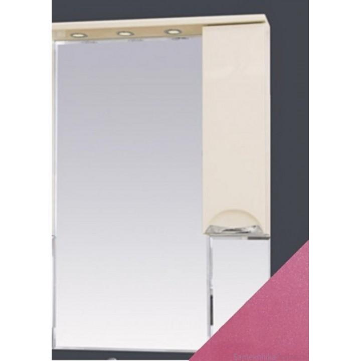 Зеркало-шкаф Misty Жасмин 65 R розовый П-Жас02065-122СвП