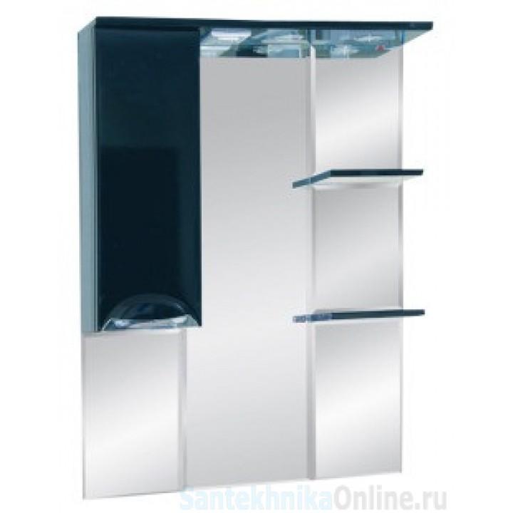 Зеркало-шкаф Misty Жасмин 75 L черный П-Жас02075-021СвЛ
