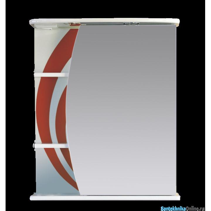 Зеркало-шкаф Misty Каролина 60 R красный П-Крл02060-265СвП