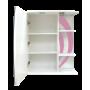 Зеркало-шкаф Misty Каролина 60 L розовый П-Крл02060-295СвЛ