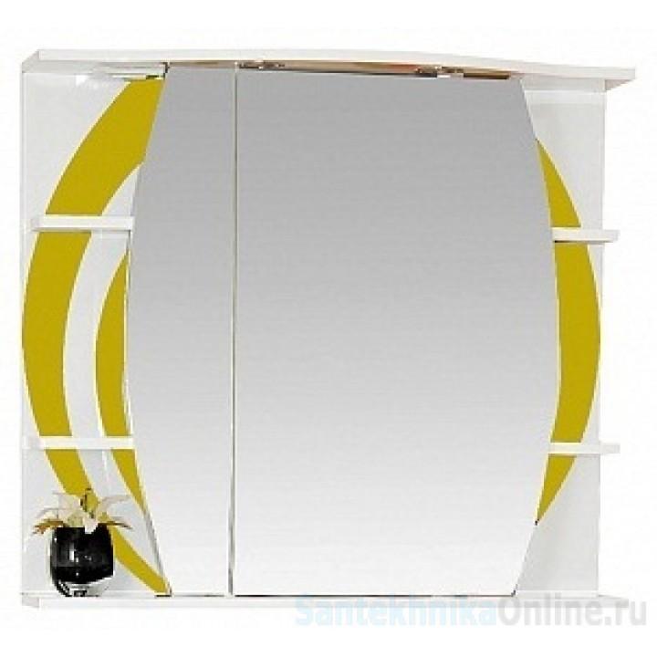 Зеркало-шкаф Misty Каролина 80 L желтый П-Крл02080-315СвЛ