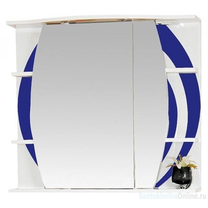 Зеркало-шкаф Misty Каролина 80 R синий П-Крл02080-305СвП