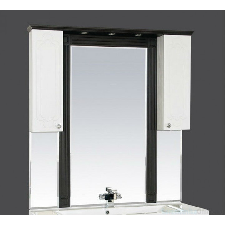 Зеркало-шкаф Misty Марсель 105 венге/белый П-Мрс02105-252