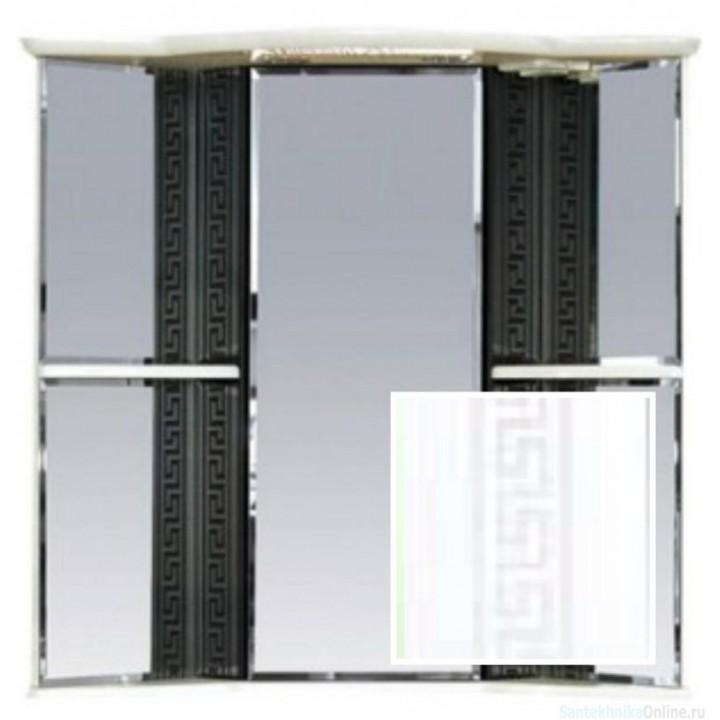 Зеркало-шкаф Misty Олимпия - 60 Зеркало - шкаф угловое лев. белое факт. П-Оли02060-012УгЛ
