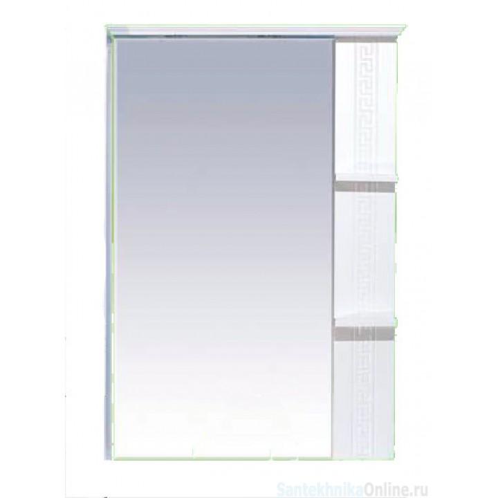 Зеркало-шкаф Misty Олимпия - 75 Зеркало белое фактурное правое П-Оли02075-012П
