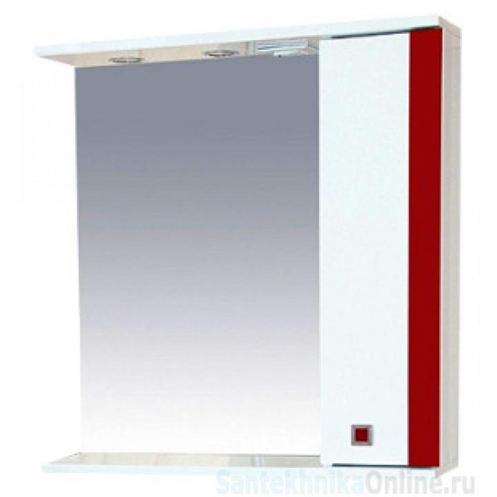 Зеркало-шкаф Misty Палермо 70 R красный П-Пал04070-261СвП