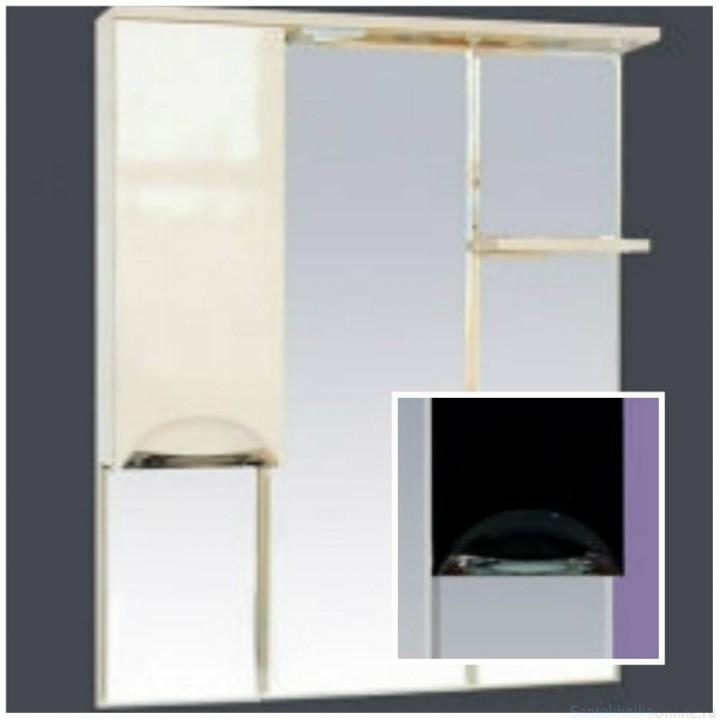 Зеркало-шкаф Misty Петра 90 L черный П-Пет04090-021СвЛ