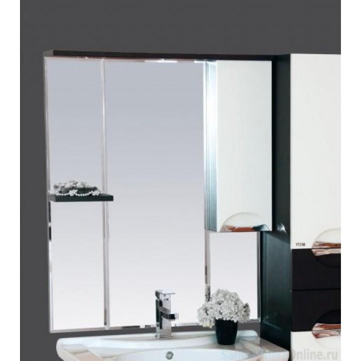 Зеркало-шкаф Misty Франко - 75 зеркало-шкаф Венге/белый (свет) прав. П-Фра04075-252СвП
