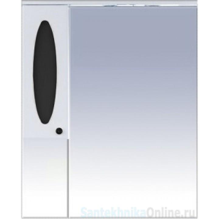 Зеркало-шкаф Misty Сидней 85 L черный П-Сид02085-235СвЛ