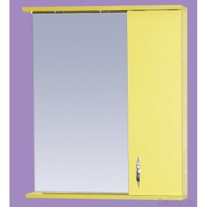 Зеркало-шкаф Misty Стиль 50 R желтый Э-Сти02050-48СвП