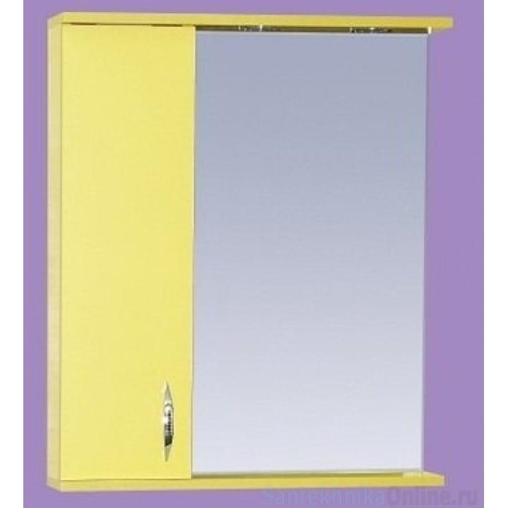 Зеркало-шкаф Misty Стиль 60 L желтый Э-Сти02060-48СвЛ