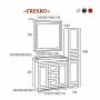 Зеркала Misty Fresko 105 краколет белый патина Л-Фре03105-0117