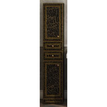 Шкаф-пенал Misty Fresko 35 R с 2-мя ящиками черный патина Л-Фре05035-02172ЯП
