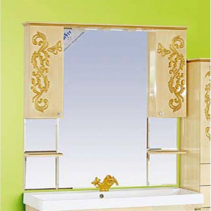 Зеркало-шкаф Misty Бабочка 120 Л-Баб04120-033Св