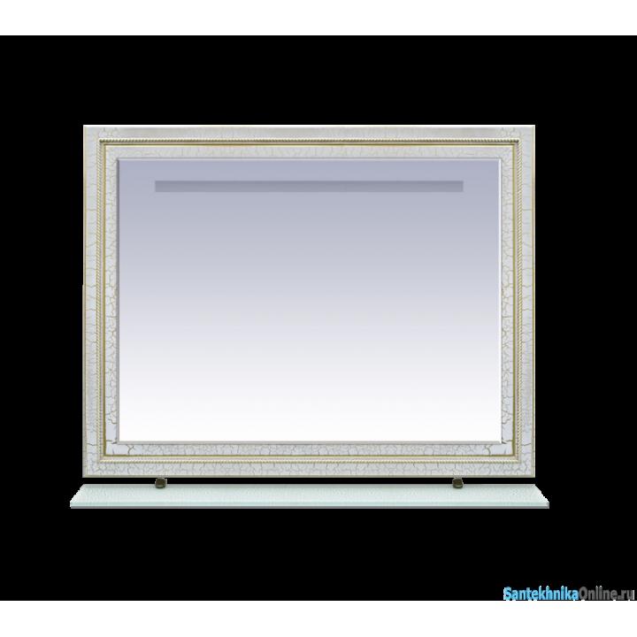Зеркала Misty Fresko 120 краколет белый патина Л-Фре03120-0117