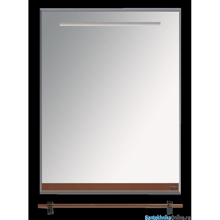 Зеркала Misty Джулия - 60 Зеркало с полочкой 12 мм коричневое Л-Джу03060-1410