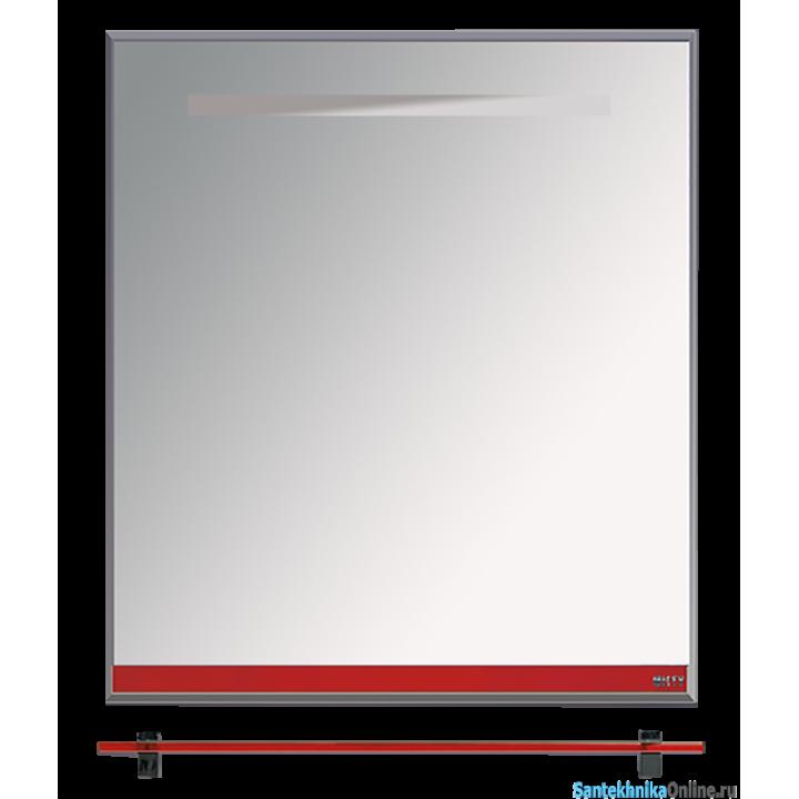 Зеркала Misty Джулия - 65 Зеркало с полочкой 12 мм красное Л-Джу03065-0410
