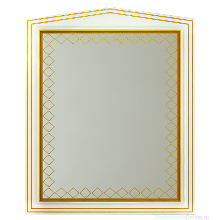 Зеркала Misty Ницца 80 белое патина Л-Ниц02080-013
