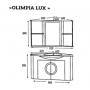 Тумба под раковину Misty Olimpia Lux 60 черная Л-Олл01060-023Уг