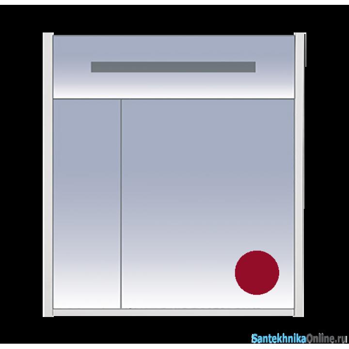 Зеркало-шкаф Misty Джулия 75 бордовый Л-Джу04075-1010