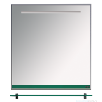 Зеркала Misty Джулия - 60 Зеркало с полочкой 12 мм зеленое Л-Джу03060-0810