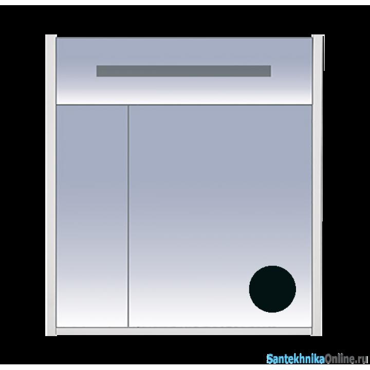 Зеркало-шкаф Misty Джулия 75 черный Л-Джу04075-0210