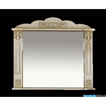 Зеркала Misty Барокко-100 Зеркало бежевое патина Л-Бар02100-033