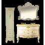 Шкаф-пенал Misty Bianco 40 L бежевый сусальное золото Л-Бья05040-381Л