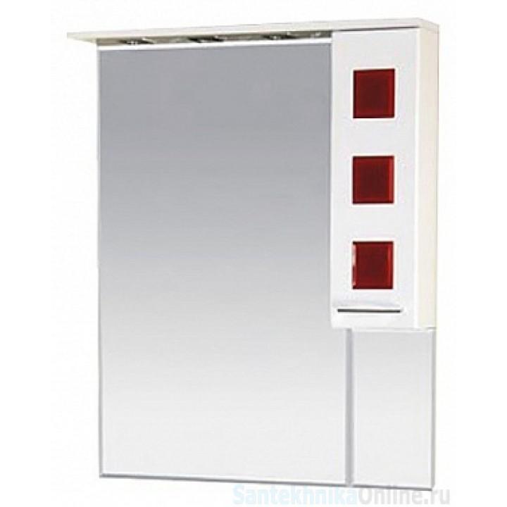 Зеркало-шкаф Misty Кармен 80 R красный П-Крм04080-2615П