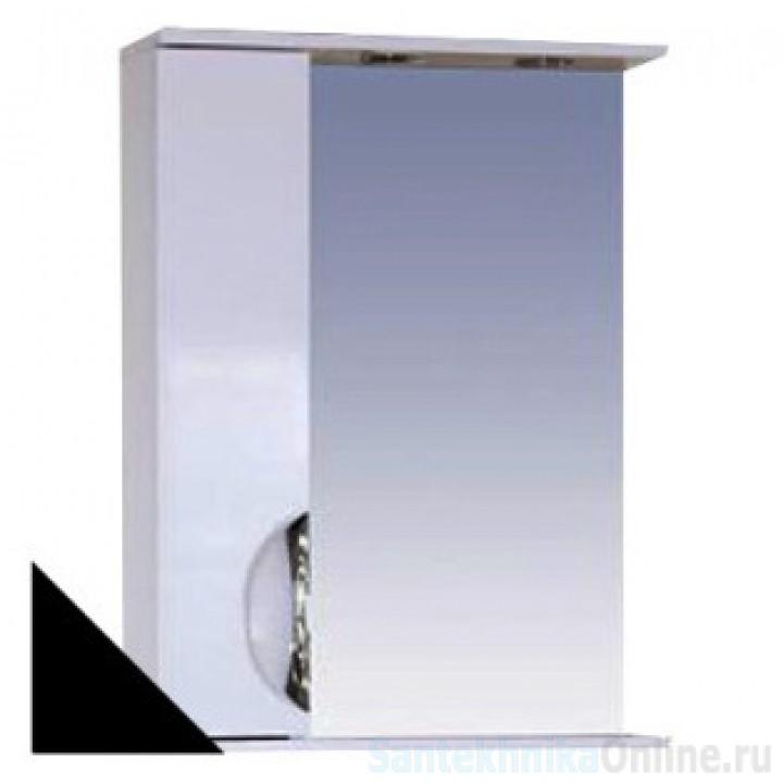 Зеркало-шкаф Misty Жасмин 55 L черный П-Жас02055-022СвЛ