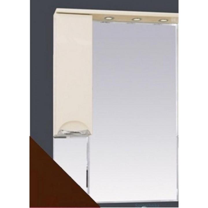 Зеркало-шкаф Misty Жасмин 65 L коричневый П-Жас02065-141СвЛ
