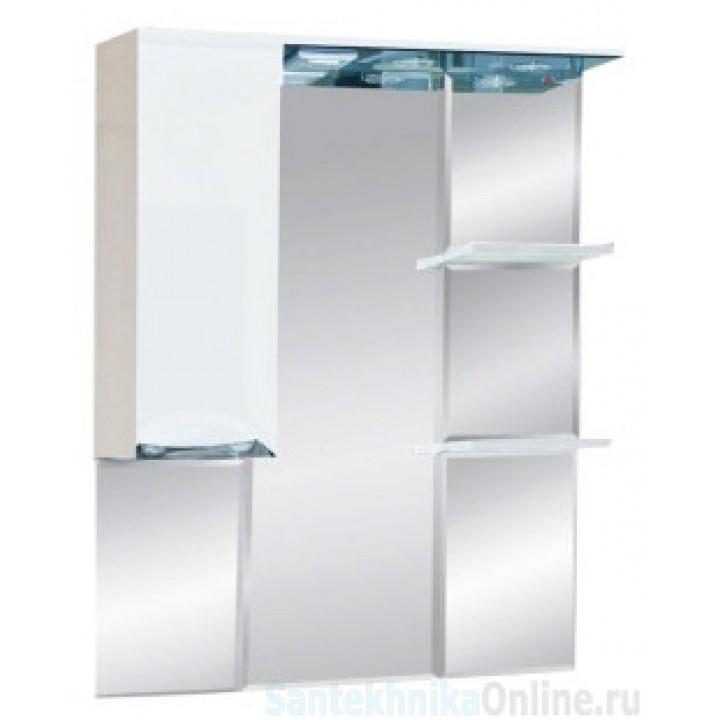 Зеркало-шкаф Misty Жасмин 80 L белый П-Жас02080-011СвЛ