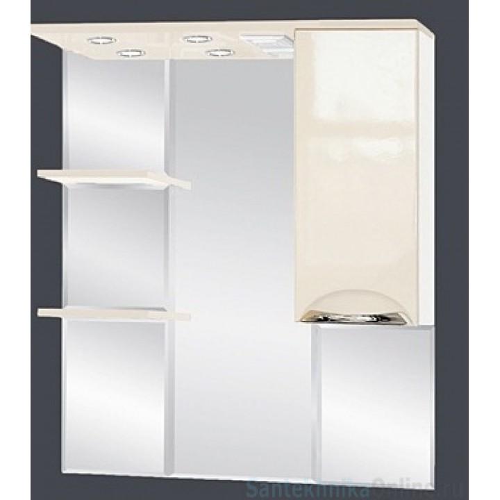 Зеркало-шкаф Misty Жасмин 85 R бежевый П-Жас02085-031СвП