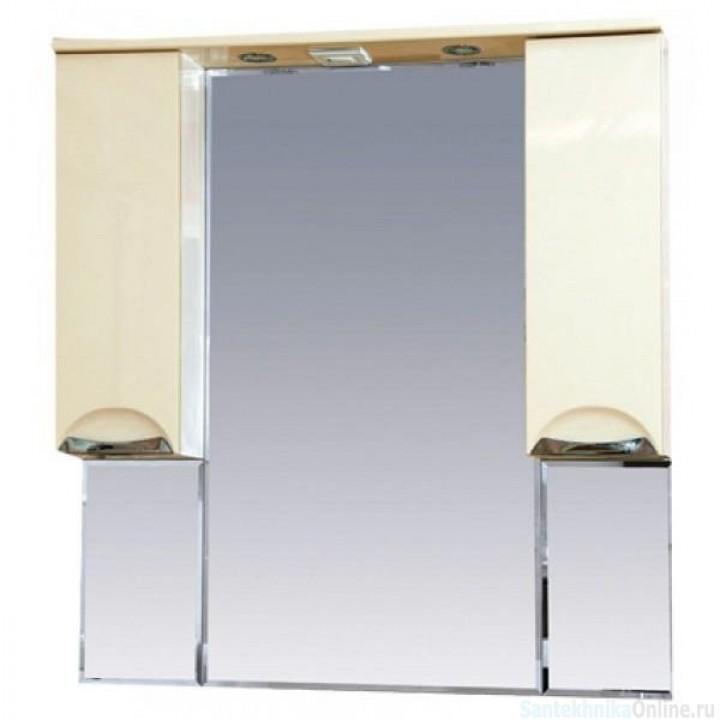Зеркало-шкаф Misty Жасмин 95 бежевый П-Жас02095-031Св