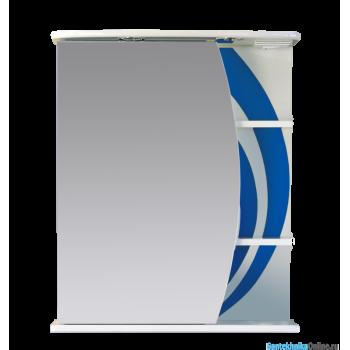 Зеркало-шкаф Misty Каролина 60 L синий П-Крл02060-305СвЛ