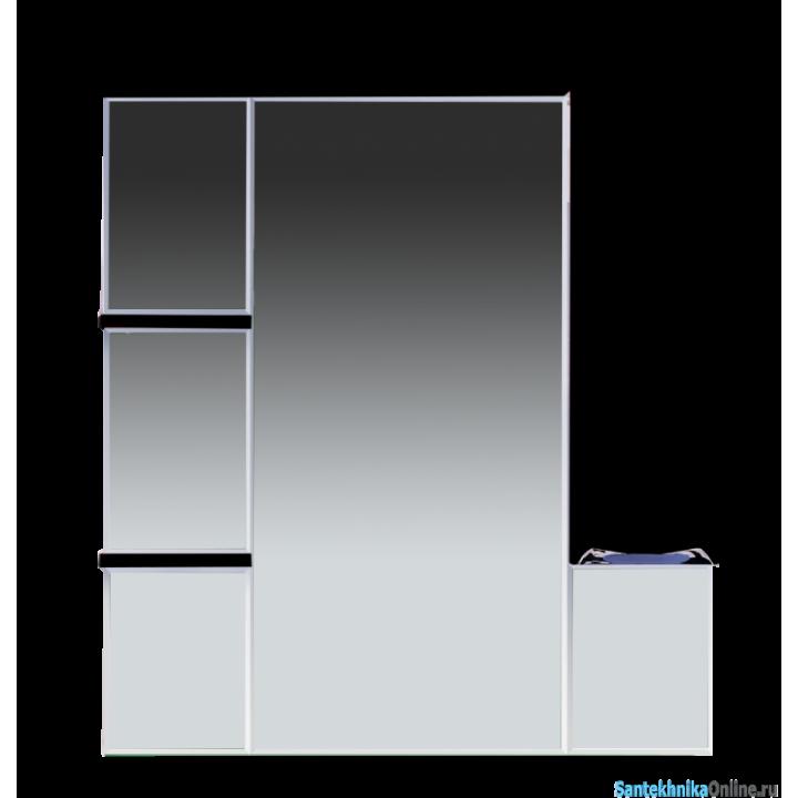 Зеркало-шкаф Misty Кристи 90 R черный П-Кри02090-021СвП