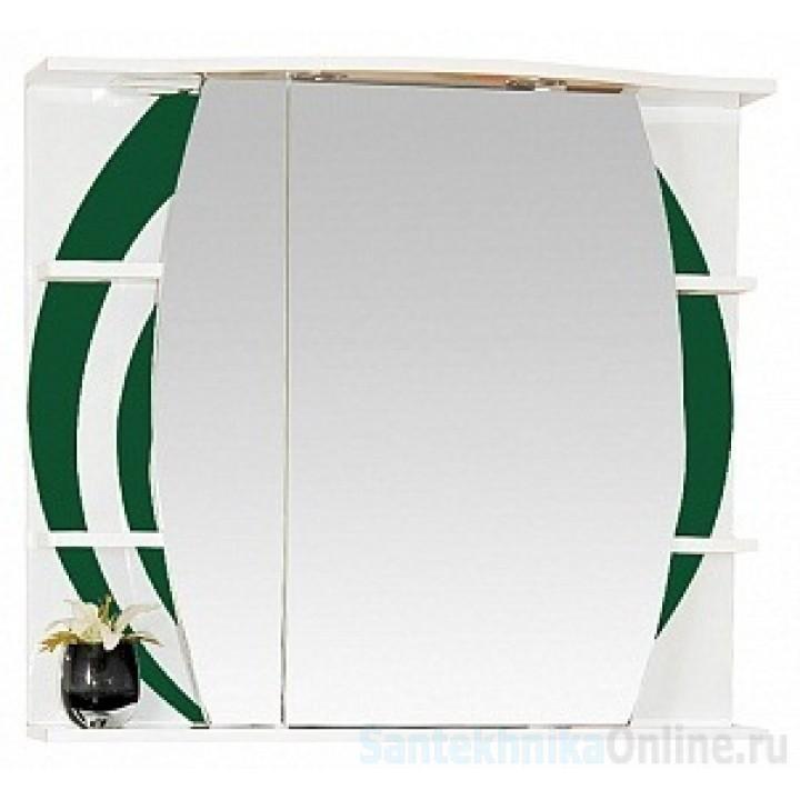 Зеркало-шкаф Misty Каролина 80 L зеленый П-Крл02080-285СвЛ