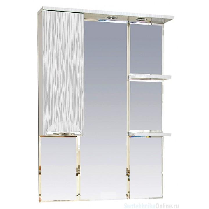 Зеркало-шкаф Misty Лорд - 75 зеркало-шкаф (свет) лев.(белая пленка)П-Лрд04075-012СвЛ