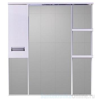 Зеркало-шкаф Misty Селена - 90 Зеркало - шкаф лев. П-Сел02090-01Л