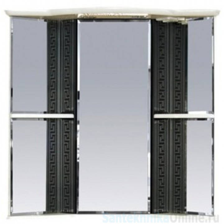 Зеркало-шкаф Misty Олимпия - 60 Зеркало - шкаф угловое лев. белое/венге П-Оли02060-252УгЛ