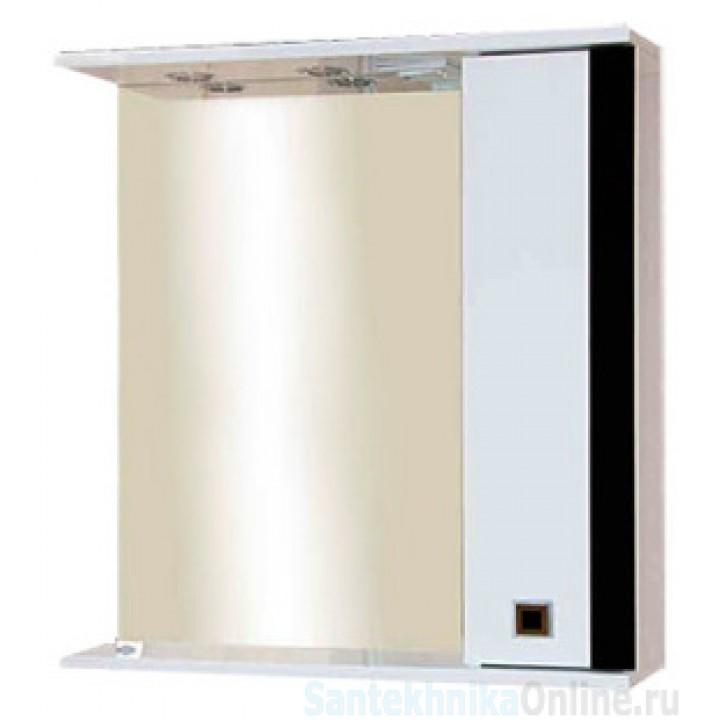 Зеркало-шкаф Misty Палермо 70 R черный П-Пал04070-231СвП
