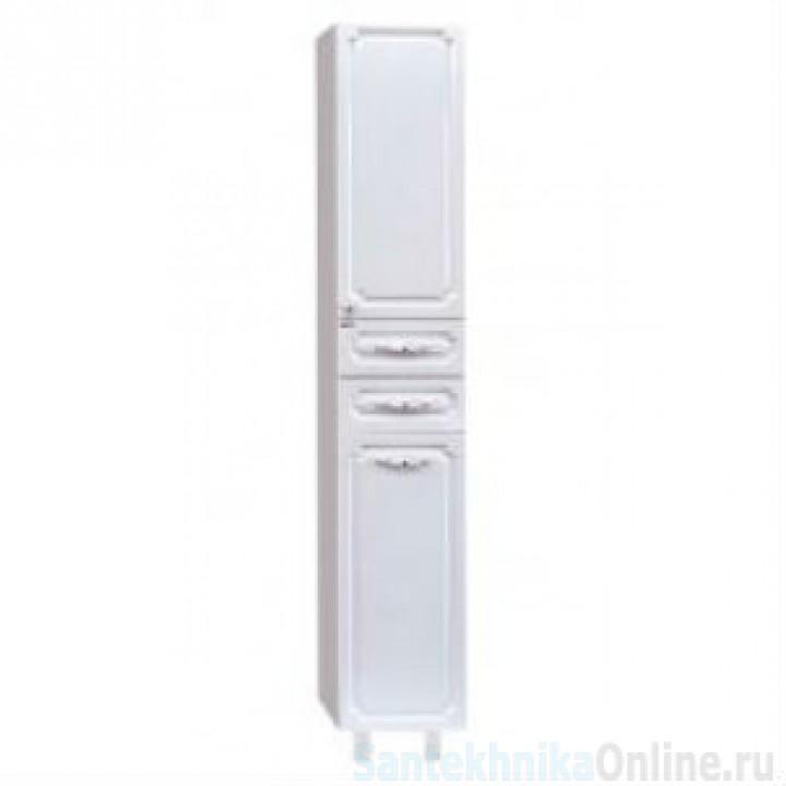 Шкаф-пенал Misty Александра - 35 Пенал с Б/К белый металлик прав. П-Але05035-352БкП