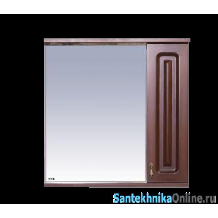 Зеркало-шкаф Misty Вояж - 70 Зеркало - шкаф прав.коричневый П-Воя02070-141П