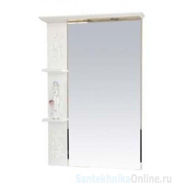 Зеркало-шкаф Misty Вирджиния (Бабочка) - 75 зеркало лев. бел.фактур. П-Вир02075-012Л