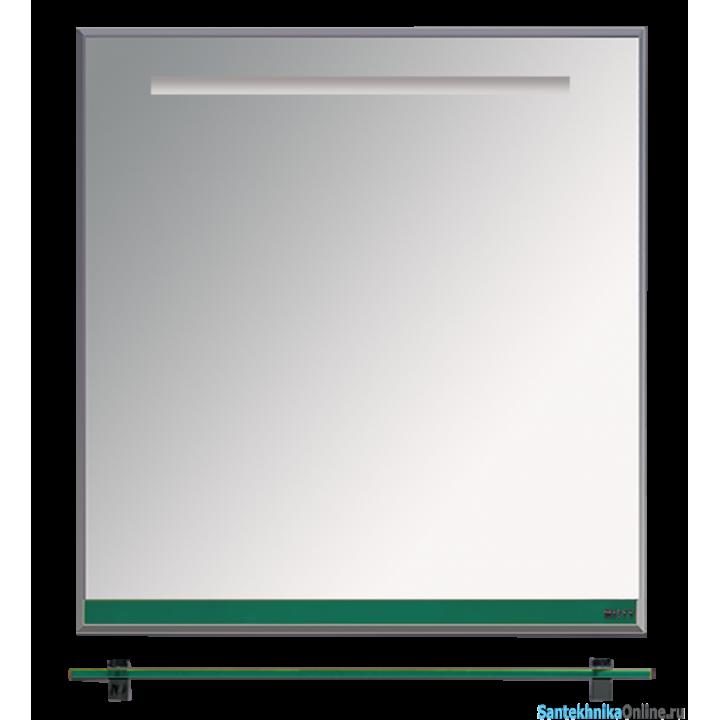 Зеркала Misty Джулия - 65 Зеркало с полочкой 12 мм зеленое Л-Джу03065-0810