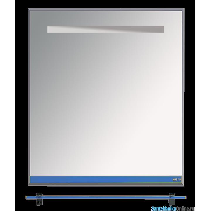 Зеркала Misty Джулия - 65 Зеркало с полочкой 12 мм синее Л-Джу03065-1110
