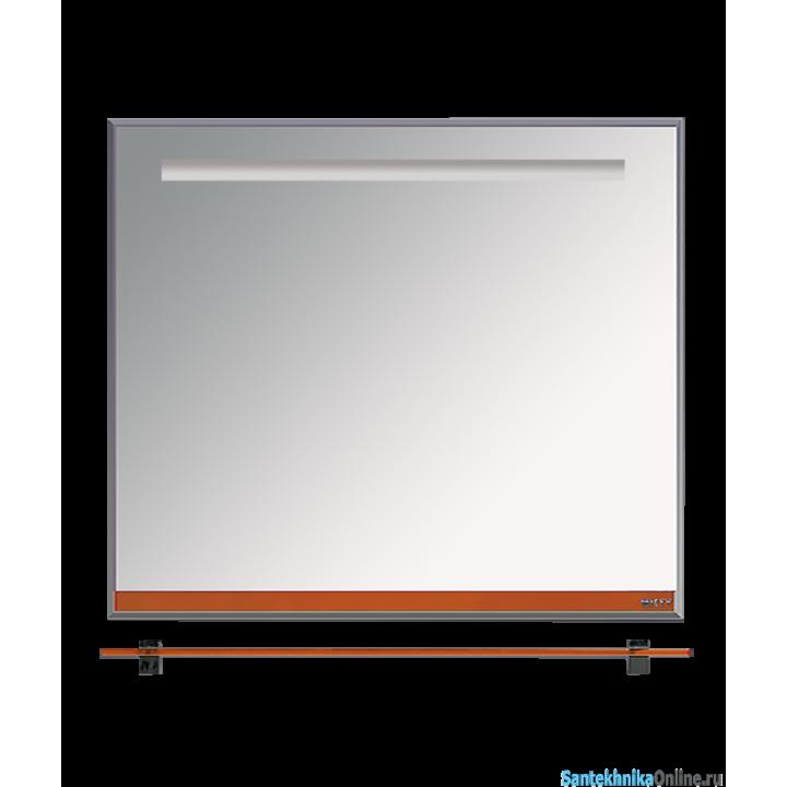 Зеркала Misty Джулия - 90 Зеркало с полочкой 12 мм оранжевое Л-Джу03090-1310