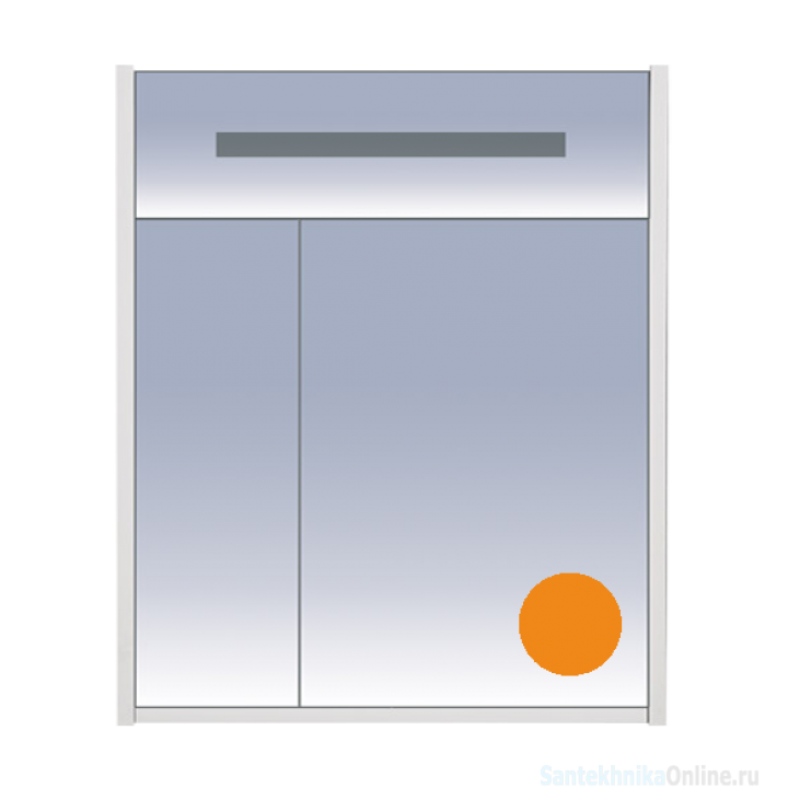 Зеркало-шкаф Misty Джулия 65 оранжевый Л-Джу04065-1310