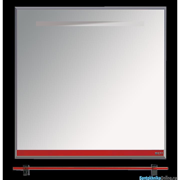 Зеркала Misty Джулия - 75 Зеркало с полочкой 12 мм красное Л-Джу03075-0410